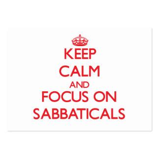 Guarde la calma y el foco en sabáticos tarjetas de visita grandes