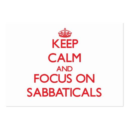 Guarde la calma y el foco en sabáticos tarjeta de visita
