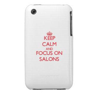Guarde la calma y el foco en salones iPhone 3 Case-Mate carcasa