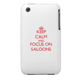 Guarde la calma y el foco en salones iPhone 3 protectores