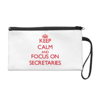 Guarde la calma y el foco en secretarias