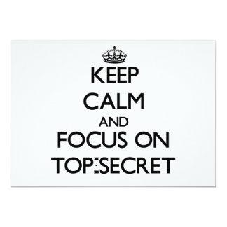 Guarde la calma y el foco en secretísimo comunicado personal