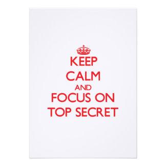 Guarde la calma y el foco en secretísimo invitacion personal