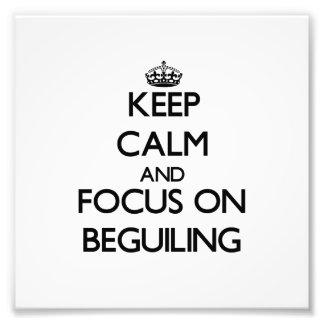 Guarde la calma y el foco en seducir