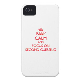 Guarde la calma y el foco en segundo conjeturar iPhone 4 protectores