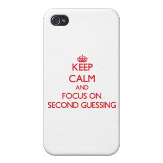 Guarde la calma y el foco en segundo conjeturar iPhone 4 cárcasa