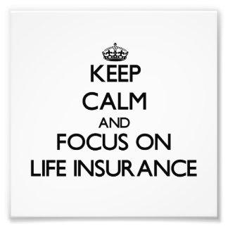 Guarde la calma y el foco en seguro de vida