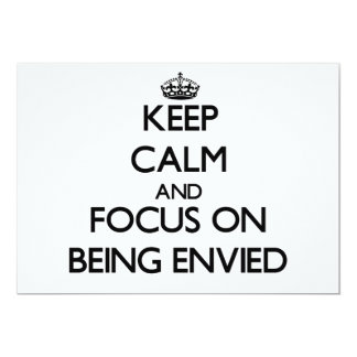 Guarde la calma y el foco en SER ENVIDIADO Invitacion Personal