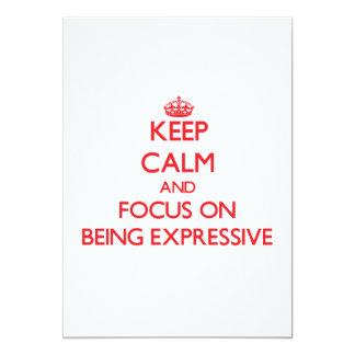 Guarde la calma y el foco en SER EXPRESIVO Comunicado Personalizado