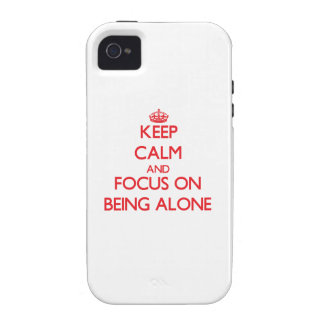 Guarde la calma y el foco en ser solo Case-Mate iPhone 4 fundas