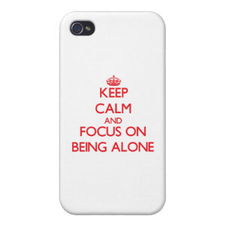 Guarde la calma y el foco en ser solo iPhone 4/4S funda
