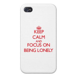 Guarde la calma y el foco en ser solo iPhone 4 fundas