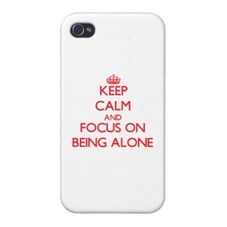 Guarde la calma y el foco en SER SOLO iPhone 4 Protectores