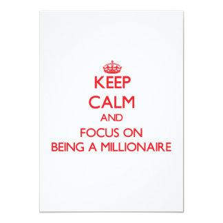 Guarde la calma y el foco en ser un millonario anuncios