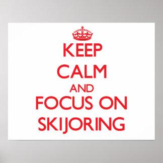 Guarde la calma y el foco en Skijoring Impresiones