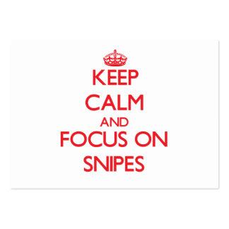 Guarde la calma y el foco en Snipes