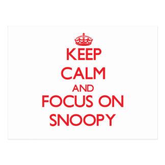 Guarde la calma y el foco en Snoopy Postal