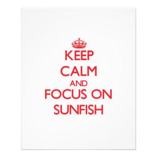 Guarde la calma y el foco en Sunfish Tarjetas Publicitarias