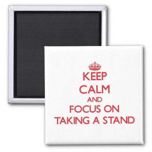 Guarde la calma y el foco en tomar un soporte imán para frigorifico