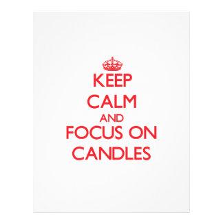 Guarde la calma y el foco en velas flyer a todo color