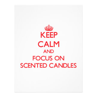 Guarde la calma y el foco en velas perfumadas tarjeton