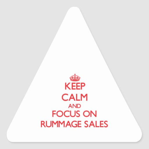 Guarde la calma y el foco en ventas de búsqueda calcomania de triangulo