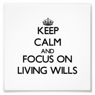 Guarde la calma y el foco en voluntades vivas