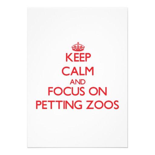 Guarde la calma y el foco en zoo-granja comunicados personales