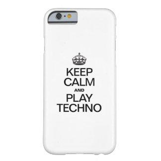 GUARDE LA CALMA Y EL JUEGO TECHNO FUNDA DE iPhone 6 BARELY THERE