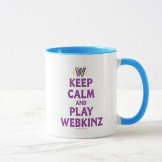 Guarde la calma y el juego Webkinz Taza
