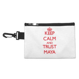 Guarde la calma y el maya de la CONFIANZA