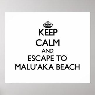 Guarde la calma y escápese a la playa Hawaii de Impresiones