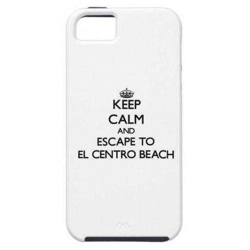 Guarde la calma y escápese a la playa la Florida iPhone 5 Carcasa