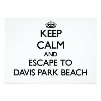 Guarde la calma y escápese a la playa Nueva York Invitacion Personalizada