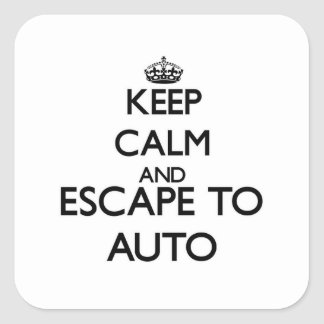 Guarde la calma y escápese a Samoa auto Colcomanias Cuadradass