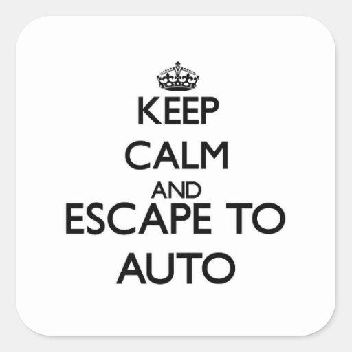 Guarde la calma y escápese a Samoa auto Colcomanias Cuadradas