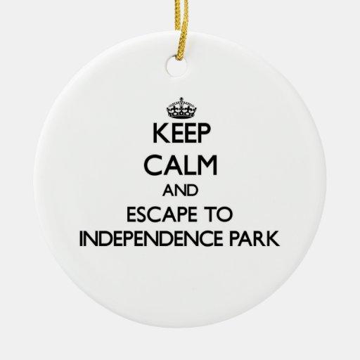 Guarde la calma y escápese al parque Massachu de Ornaments Para Arbol De Navidad