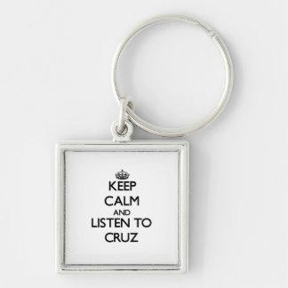 Guarde la calma y escuche Cruz