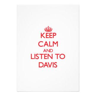 Guarde la calma y escuche Davis