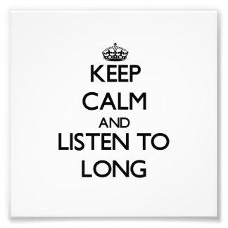 Guarde la calma y escuche de largo fotografias