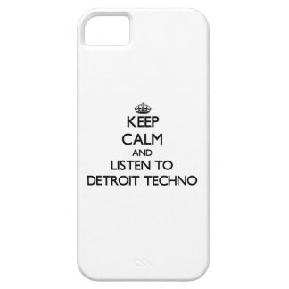 Guarde la calma y escuche DETROIT TECHNO iPhone 5 Protectores