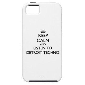 Guarde la calma y escuche DETROIT TECHNO iPhone 5 Funda