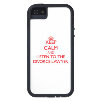 Guarde la calma y escuche el abogado de divorcio iPhone 5 Case-Mate cárcasa