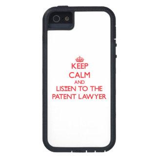 Guarde la calma y escuche el abogado patentado iPhone 5 Case-Mate funda