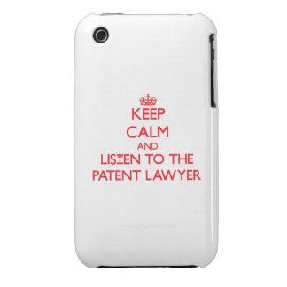 Guarde la calma y escuche el abogado patentado iPhone 3 Case-Mate protector