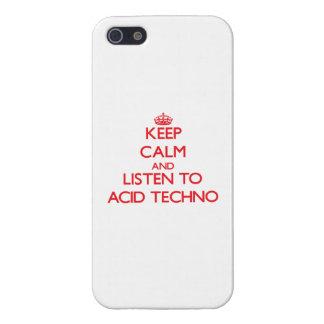 Guarde la calma y escuche el ÁCIDO TECHNO iPhone 5 Carcasa