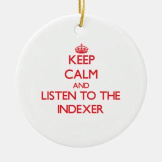 Guarde la calma y escuche el controlador paso a pa adornos de navidad