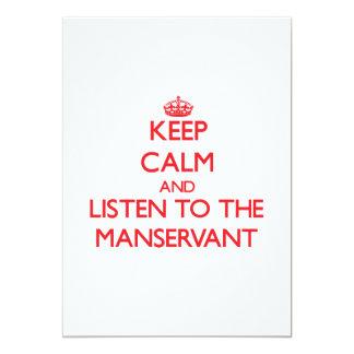 Guarde la calma y escuche el criado invitacion personalizada