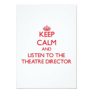 Guarde la calma y escuche el director del teatro anuncios personalizados