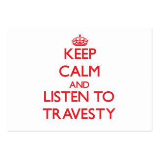 Guarde la calma y escuche el DISFRAZ